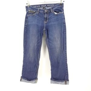 Apt 9 Denim Jean Cuffed Stretch Capris
